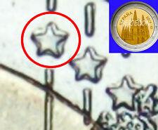 variante conmemorativa  2€ Spanien 2012 Burgos variante estrellas dobles error