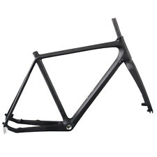 Carbon Cyclocross Road Bike Frame 55cm Disc Brake Internal Route Cable+Fork