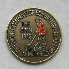 """1912 Open Golf Championship Quality Hand Painted Embossed Ball Marker 1"""" Coin."""