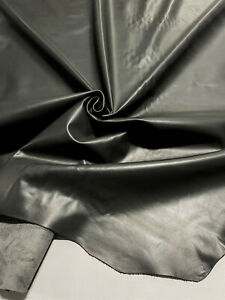Classic Leather Cowhide Smolder Black Premium Quality Auto/Home Upholstery Hide
