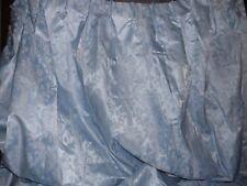 4 Huge Pleated Panel Custom Blue Floral Used Curtain Drapes- 68 W 87 L
