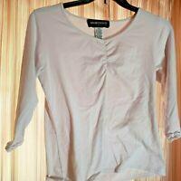 Sage Harbor Petite Women's Blouse Top Long Sleeve Stretch Shirt - PS