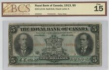 Royal Bank of Canada, 1913, $5 Neill-Holt, Check Letter A