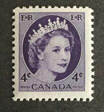 Canada #340 MNH Stamp 1954 - Queen Elizabeth II Definitive - Wilding Portrait