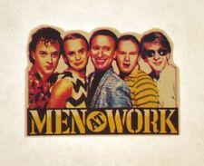 Vintage Men At Work Mini Iron On Transfer 80's Australian Rock Band NOS