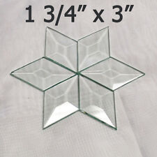 "(box of 30) Clear Glass Diamond Bevels 1-3/4 x 3"" Mini Bevel Memory, prisms"