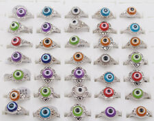 Wholesale 30pcs jewelry lots Evil Eye Man's Silver Fashion Rings for gift