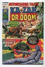 Astonishing Tales #1 FN/VF Ka Zar And Dr. Doom Kraven The Hunter  Marvel  SA