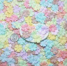 25 Mixed Pastel 26mm Heart Flower Scrapbook Crafts Mulberry Paper Cards Wedding
