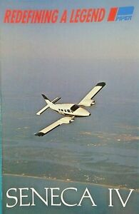 Original Factory Brochure Piper Aircraft Twin Engine Seneca Specs Performance