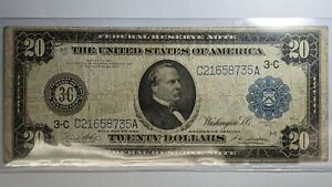 1914 20 Dollar Federal Reserve Note 172179p