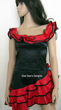 SPANISH FLAMENCO RUMBA SALSA DANCER SENORITA COSTUME FANCY DRESS HEN NIGHT