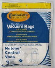 3 NuTone Central Vacuum Bags 391, CF391 6/gal Allergen by envirocare