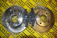 Ford Fiesta MKV, VI 99-09, Fusion 02-12,  Front Brake Discs And Pads