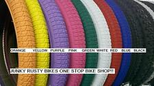 "20x1.75 bmx tires 20"" RED blue purple GREEN white black yellow ORANGE (2 tires)"