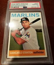 2013 Topps Heritage #463 - Giancarlo (Mike) Stanton - SP - PSA 10 - POP 1 of 7