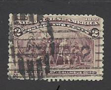 Sc# 231  1c COLUMBIAN COMMEMORATIVE Fancy cancel - (B-2)