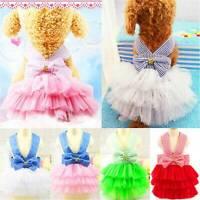 Dog Cat Puppy Princess Tutu Dress Party Pet Skirts Clothes Costume Apparel AU