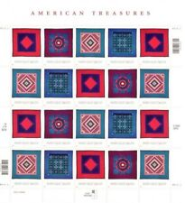 Amish Quilts 34 cent Stamp Sheet 20 3524-3527 2001 Mint NH Free Shipping
