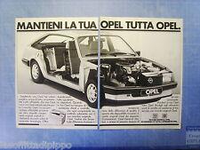 QUATTROR982-PUBBLICITA'/ADVERTISING-1982- OPEL RICAMBI ORIGINALI -2 fogli