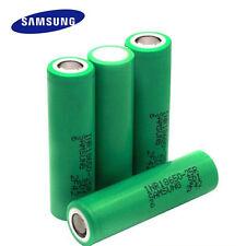 4x Original Samsung 25R 18650 2500mAh 20/35A Batería Li-Mn Alto Consumo Parte Superior Plana