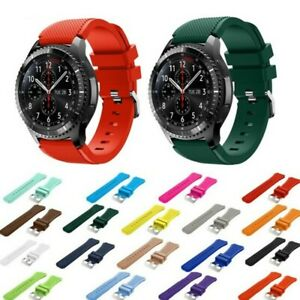 Samsung Galaxy Watch 20mm 22mm Gear S3 Classic SportS3 Armband Geriffelt Silikon