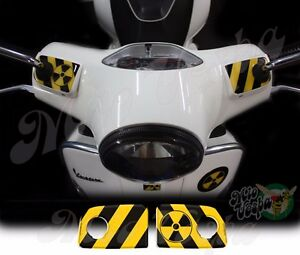 RadioActive Handlebar pump covers overlay 3D Decals sticker Vespa GTs 250 300
