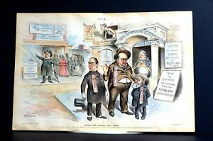 John Wanamaker 1894 HARRISON REPUBLICAN FOREIGN TARIFFS REED McKINLEY Puck Print