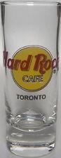 "Hard Rock Cafe TORONTO 4"" SHOT GLASS Cordial Classic HRC Logo BLACK Text Lg CAFE"