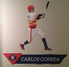 "Carlos Correa FATHEAD Junior Graphic 27""x17"" & Name Sign 34""x7"" Astros MLB Decal"