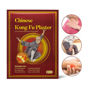 Chinese Kung Fu Pain Relief Patch Joint Back Medicated Plaster 8 x