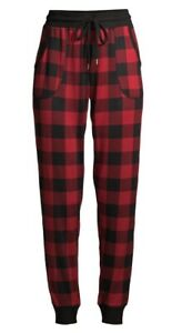 Secret Treasure Hacci Red Plaid Jogger Sleep Pants.. Large(12-14).. NEW!!!