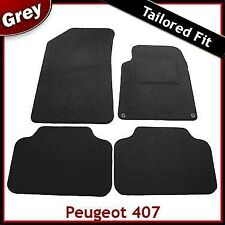 Peugeot 407 2004 - 2006 2007 2008 2009 2010 Tailored Fitted Carpet Car Mats GREY