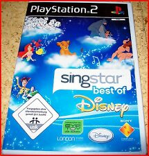 PS2 SINGSTAR BEST OF DISNEY *MIT DISNEY KAROKEHITS ZUM MITSINGEN*