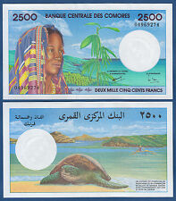 KOMOREN / COMOROS  2500 Francs (1997) UNC  P. 13