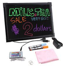 "Flashing Illuminated Erasable Neon LED Message Menu AD Sign Writing Board 12x16"""