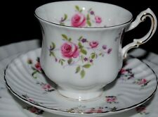 VTG ROYAL ADDERLEY PARAGON FRAGRANCE BONE CHINA LOT 3 TEA CUP SAUCER SET ENGLAND