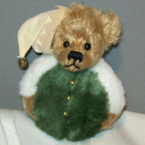 """Ganz COTTAGE COLLECTIBLES 2000 Holiday Beanie Bear Stuffed Plush 5"""" Doll"""