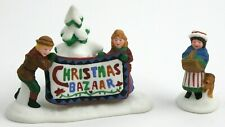 "Dept 56 New England Village Accessory - ""Christmas Bazaar Sign"" New Old Stock"