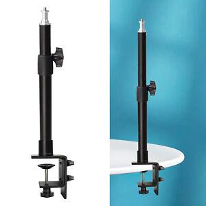 "1/4"" Adjustable Table Desk Clamp Mount Stand for DSLR Camera Panel Light"