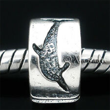 Dolphin Click And Lock Stopper Bead For European Charm Bracelets And Necklaces