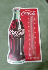 ~NEW SEALED~ DRINK COCA-COLA IN BOTTLES WALL THERMOMETER SIGN
