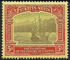 More details for st kitts & nevis 1923 black & red sg59 very fine mint