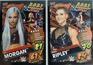 Topps WWE Slam Attax 2021 BREAKOUT STARS Card Set of 10
