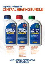 Central Heating Cleaner,Silencer and Leak Sealer Bundle.500ml Bottles. Servicing