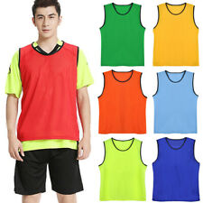 Sports Soccer Football Rugby Training Bibs Vest Breathable Kids/Adult Vests NEW