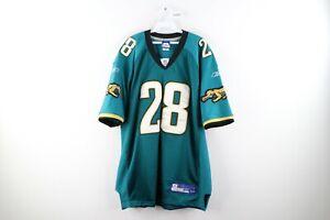 Vtg Reebok Mens 52 Jacksonville Jaguars Fred Taylor Football Jersey #28 Stitched