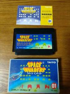 Taito Space Invaders Nintendo Family Computer NES Used Shooter Retro from Japan