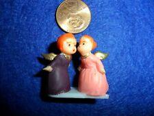Vintage Plastic Minature Kissing Angels
