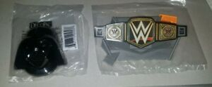 LOT 2 DECOPAC CAKE TOPPER STAR WARS TALKING DARTH VADER HEAD WWE WWF BELT RING